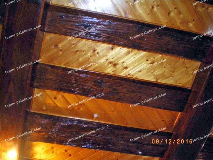 bricolage peinture plafond poutres et frisettes conseils des bricoleurs. Black Bedroom Furniture Sets. Home Design Ideas