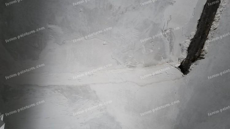 restaurer plafond ancien fissuré