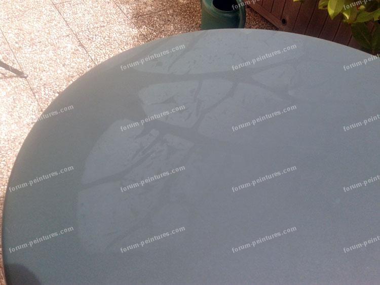 Problème traces sur table de jardin en acier
